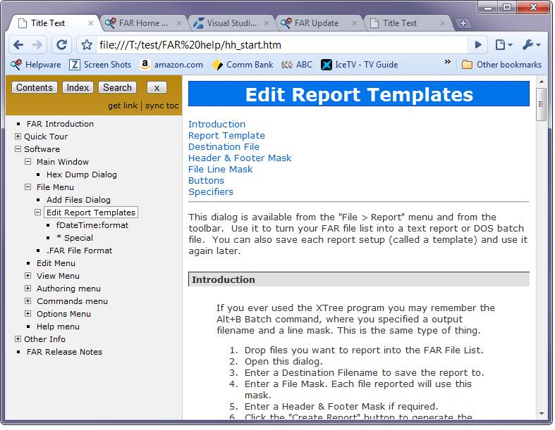 FAR HTML - VS Help Authoring & Integration - Visual Studio Marketplace