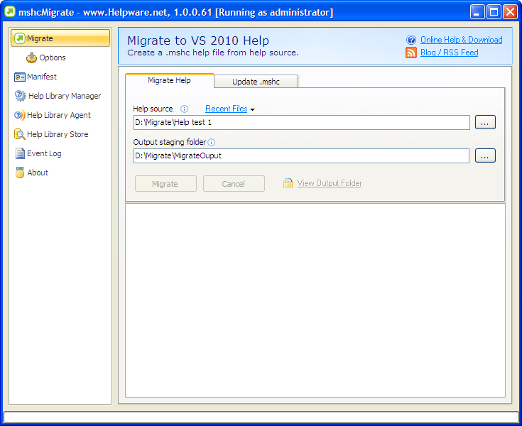 mshcMigrate - Migrate to VS 2010\2012\2013\2014\+ Help